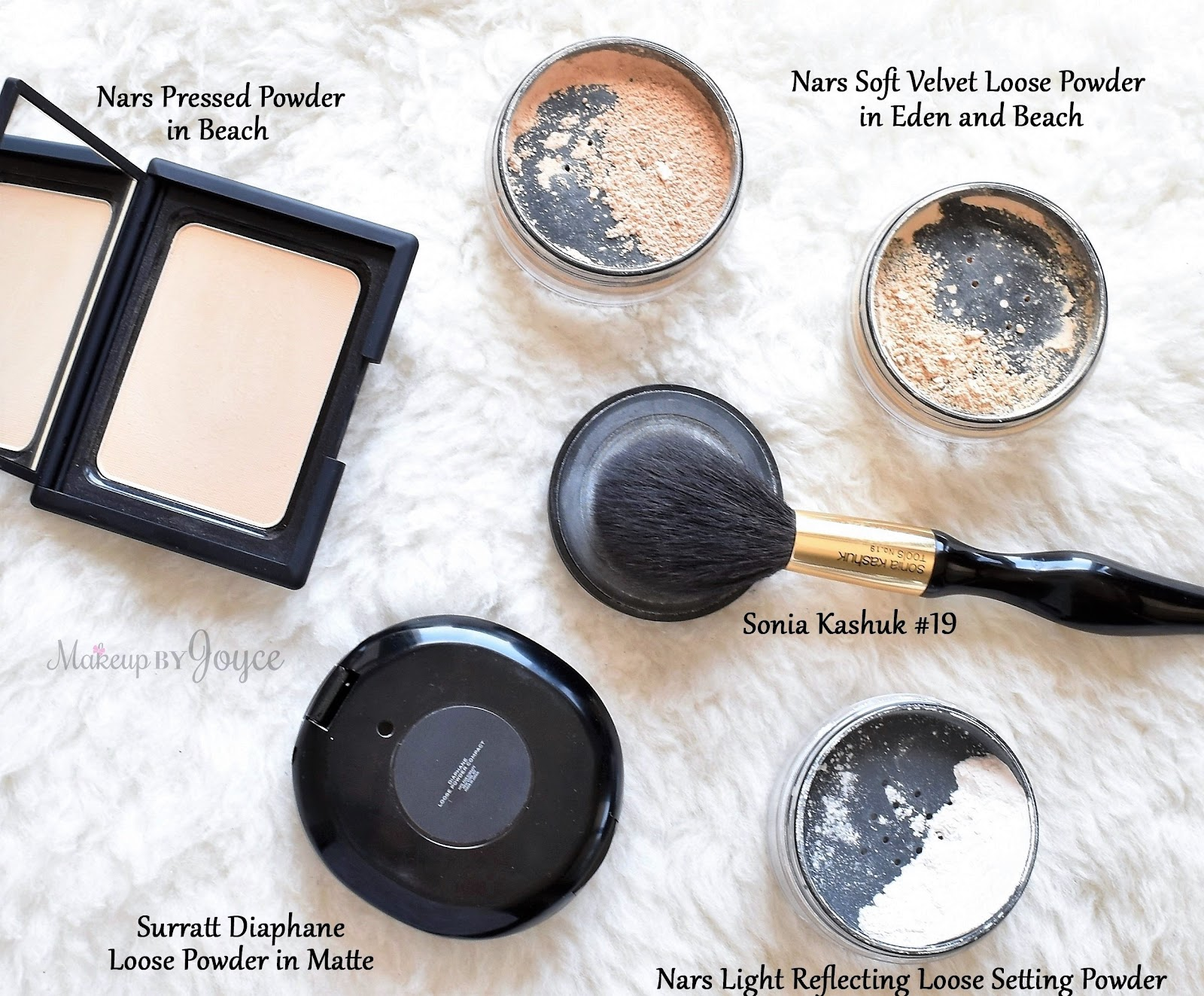 Nars Surratt Loose Pressed Matte Mattifying Setting Powders Collection  Comparison Review