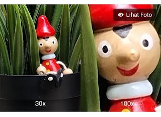 Hasil foto kamera Samsung Galaxy S21 plus zoom 100×