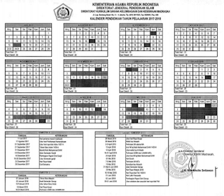Download Kalender Pendidikan Madrasah Kemenag 2017 2018