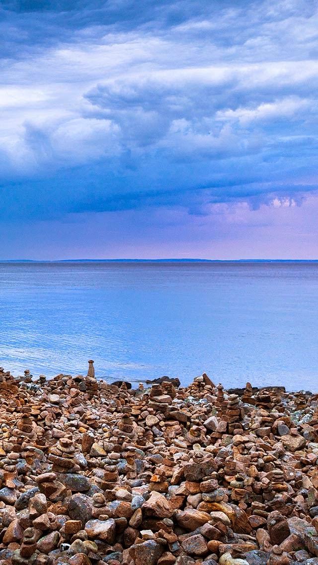 Iphone 5 5c 5s Wallpaper Seaside Pebble Piles Covers Heat
