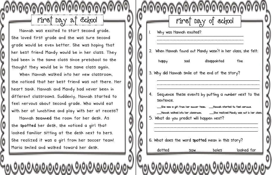 Sarahu0026#39;s First Grade Snippets: September literacy centers ...