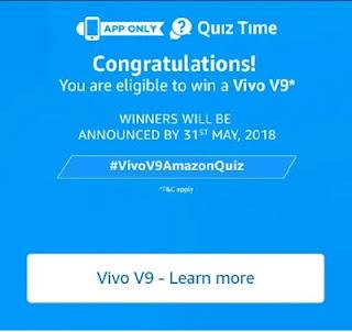Amazon Vivo Quiz – Answer & win Vivo V9 Smartphone2