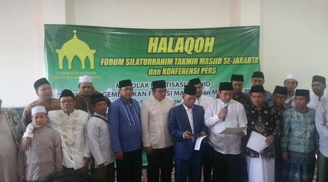Alhamdulillah, Pengurus Masjid se-Jakarta Tolak Politik Praktis Masuk Masjid