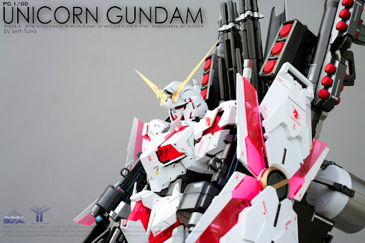 PG 1/60 RX-0 UNICORN GUNDAM FULL ARMOR Custom Painted by Seth Tuna