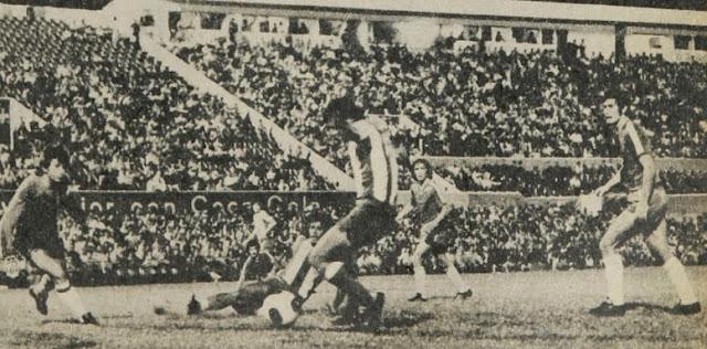 Paraguay y Chile en partido amistoso, 2 de febrero de 1977