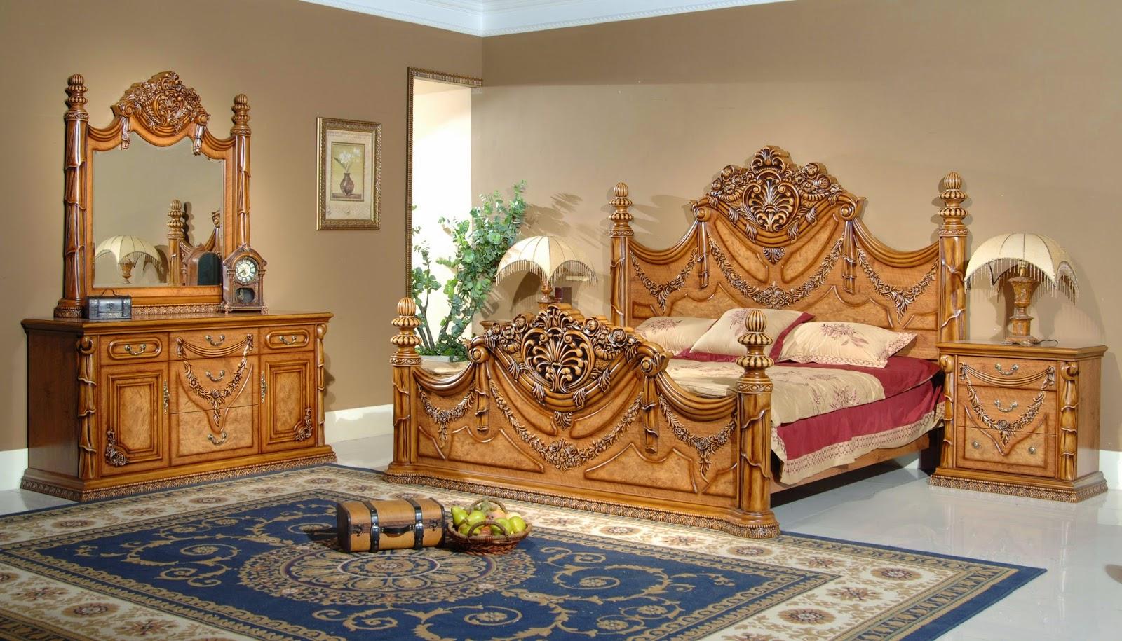 Indonesian Carved Teak Bed Solid Teak Furniture