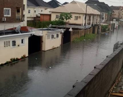 Flood Takes Over Houses In Lekki After Heavy Rainfall (Photos)