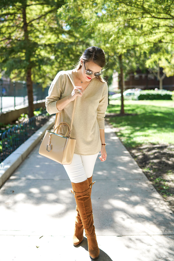 Krista Robertson, Covering the Bases, Travel Blog, NYC Blog, New York & Company, Preppy Blog, Fashion Blog, Travel, Fashion Blogger, NYC, What to wear-to-work, Work outfits, How to Dress for Work, Fall Outfits, Fall Style, Cashmere Sweater, White after Labor Day