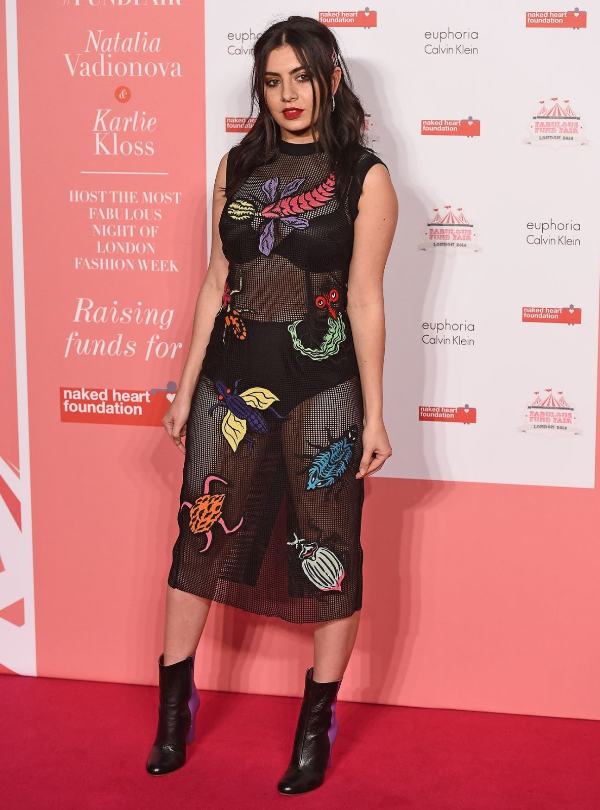 Charli XCX wears sheer dress for charity fundraiser in London