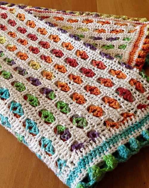 A Spanish Rainbow Baby Blanket - Free Pattern