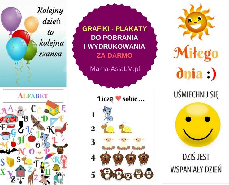 Pozytywne i Edukacyjne grafiki za darmo - do pobrania i wydrukowania