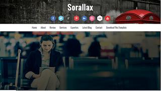 Sorallax Blogger Template