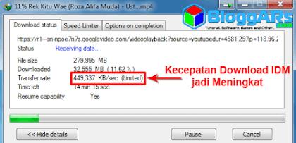 Meningkatkan Kecepatan Download di IDM