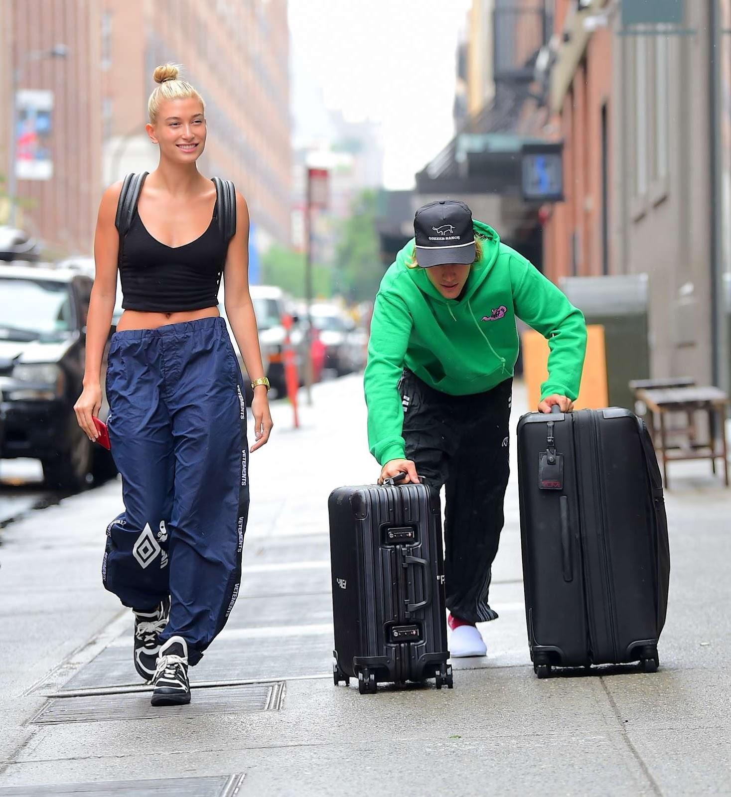 e62f205e185d Hailey Baldwin and Justin Bieber Leaves the Milk Studios in New York ...