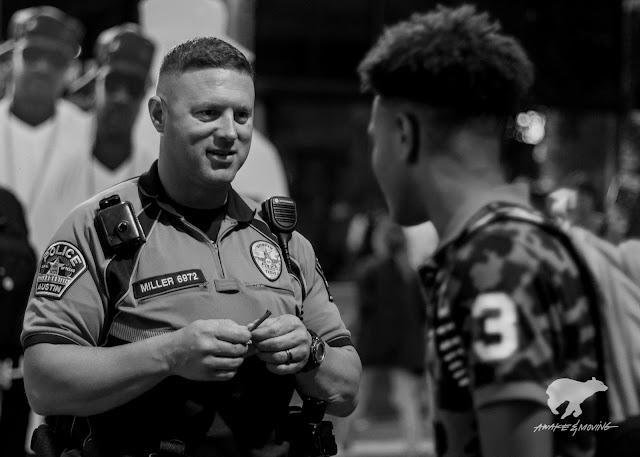 Austin Police and random smoker. Austin, TX.