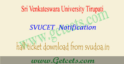 SVUCET 2018 hall ticket download,SVUCET hall tickets 2018,svu pgcet hall ticket download 2018