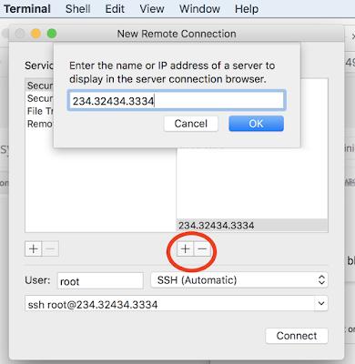ssh remote connection mac