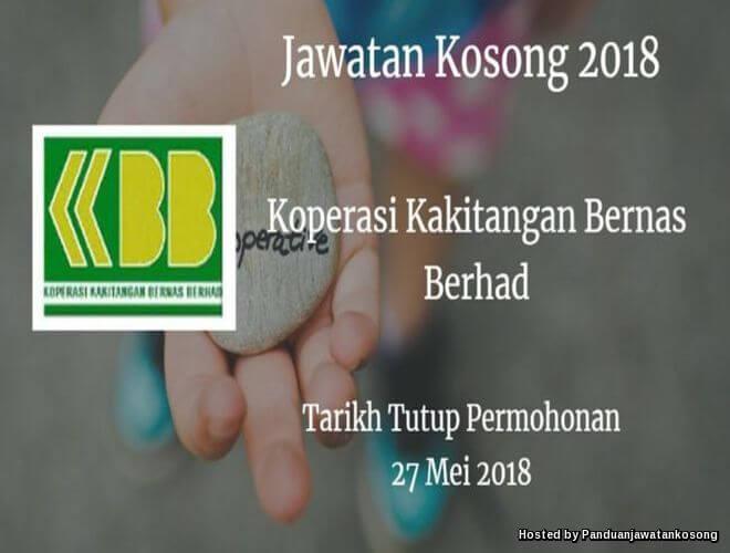 Iklan Jawatan Kosong Koperasi Kakitangan Bernas Berhad (KBB) (27 Mei 2018)