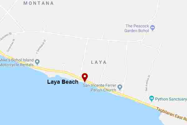 Laya Sunset and sunrise Pebbles Beach Baclayon Bohol Philippines 2018 Maps
