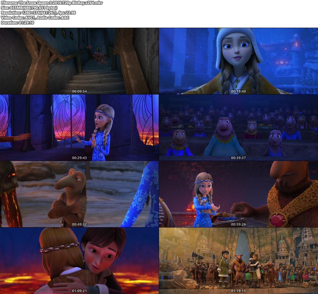 The Snow Queen 3 2016 720p BluRay x264 | 480p 300MB | 100MB HEVC Screenshot