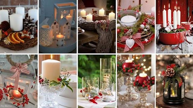 Χριστουγεννιάτικες Συνθέσεις με Κεριά
