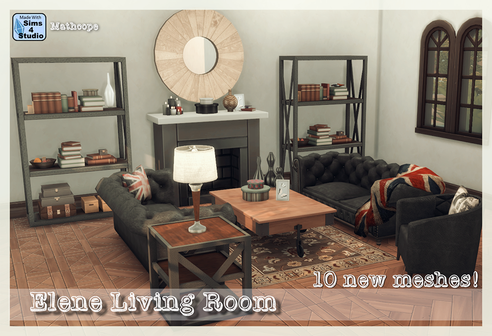 My sims 4 blog elene living room set by mathcope for Sims 3 living room sets