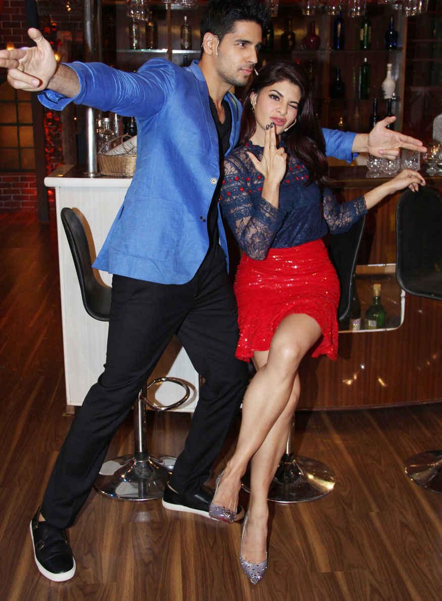 Sidharth Malhotra and Jacqueline Fernandez on The Sets of 'The Drama Company'