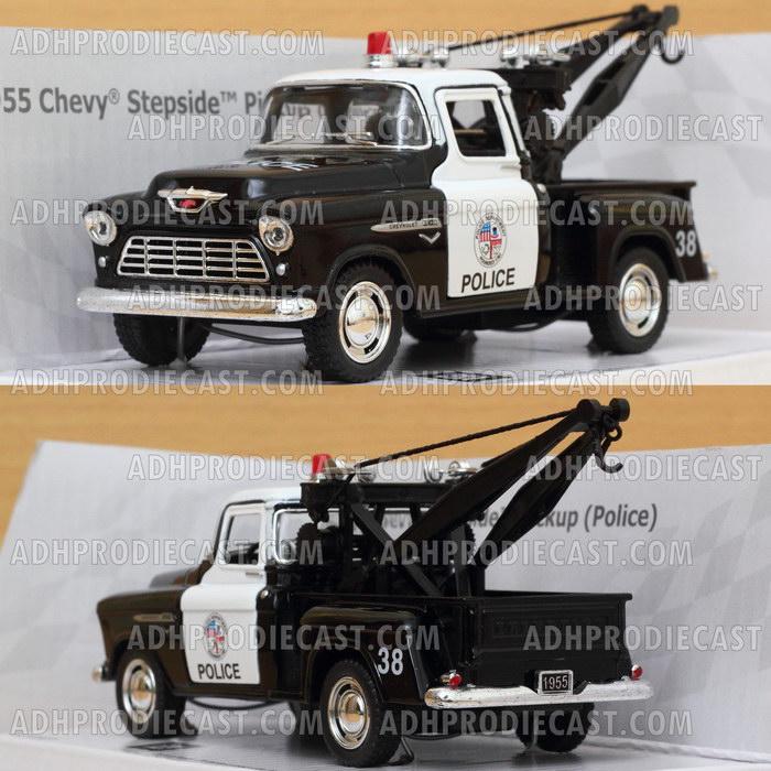 Miniatur Mobil Chevy Stepside Pickup 1955 Police