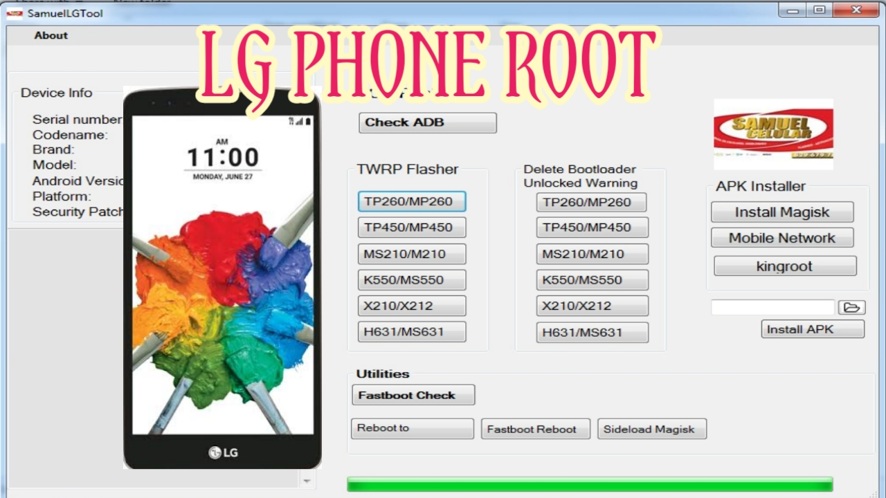 GLOBAL SYSTEM FOR MOBILE COMMUNICATION: LG Phone Root Tool