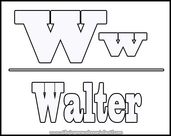 Dibujos Con La Letra W Para Colorear Imagesacolorierwebsite