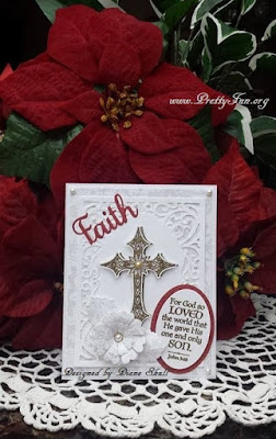 ODBD Christmas Paper Collection, 2013, ODBD Boho Cross, ODBD The Cross, ODBD Custom Vintage Flourish Pattern Dies, ODBD Custom Faith, Hope, and Love Dies, ODBD Custom Pretty Posies Dies, ODBD Custom Stitched Ovals and Ovals Dies, Our Daily Bread designs Customer Card of the Day by Diane Shull