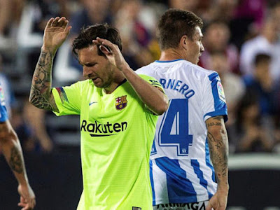 Last-place Leganés score two goals in two minutes to shock Barcelona