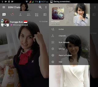 BBM MOD Transparan Maria Ozama v3.2.0.6 APK Versi Terbaru