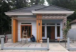 Tampak Depan Rumah Ukuran 7x10 Kamar 3 Sederhana