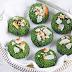 Zelené sušenky s kokosem