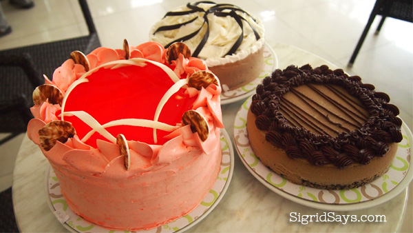 Bacolod cakes - Bacolod restaurants - C's Cafe by L'Fisher hotel