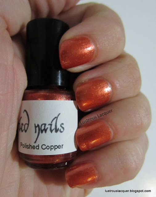Glitterfied Nails Polished Copper