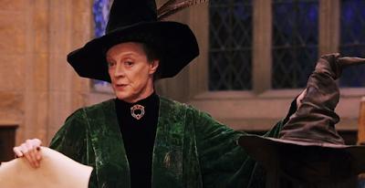 Макгонъгол на разпределителната церемония - Хари Потър и философският камък