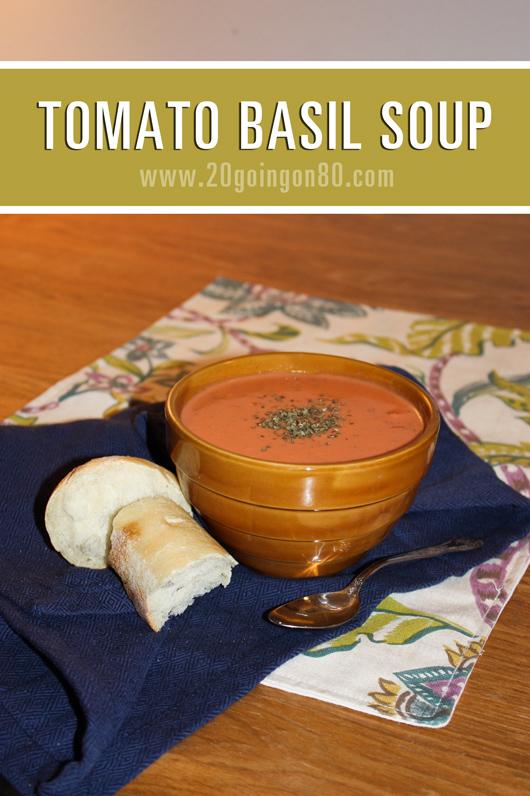 Four-Ingredient Tomato Basil Soup