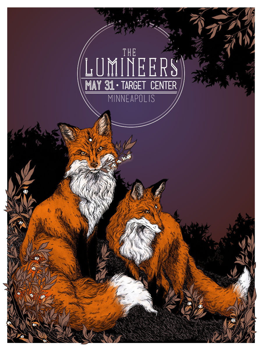 Inside The Rock Poster Frame Blog The Lumineers Tour