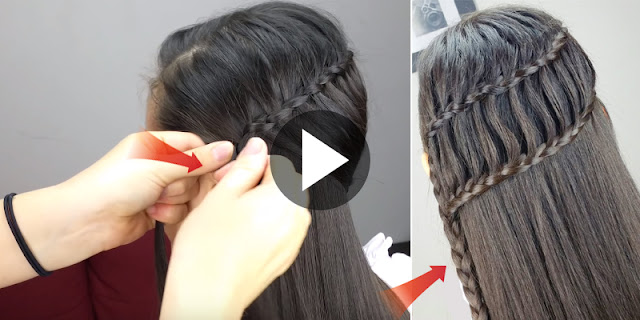 How To Create Long Ladder Braid Hairstyle, See Tutorial