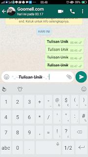 Cara Membuat Tulisan UNIK Di Whatsapp
