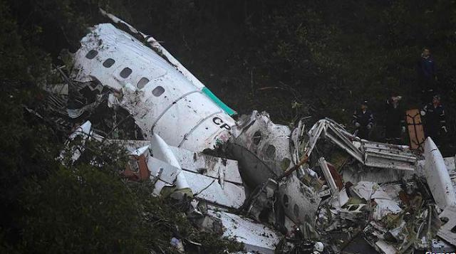 Karena Kehabisan Bahan Bakar rupanya jatuh Pesawat yang Membawa Pemain Chapecoense