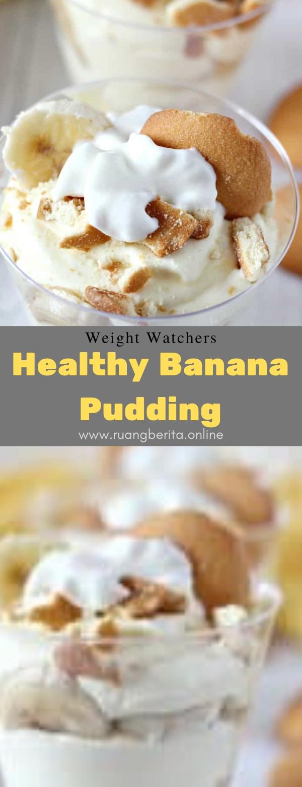 Weight Watchers Healthy Banana Pudding #dessert #summer #weightwatchers #healthy #banana #pudding