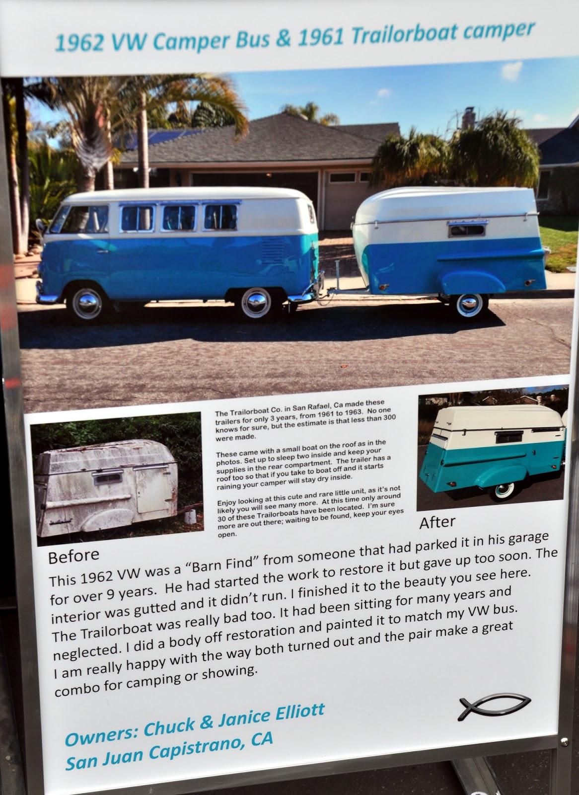 1962 Camper Van and 1961 Trailerboat Camper
