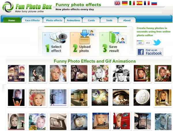 Funny online photo editor site