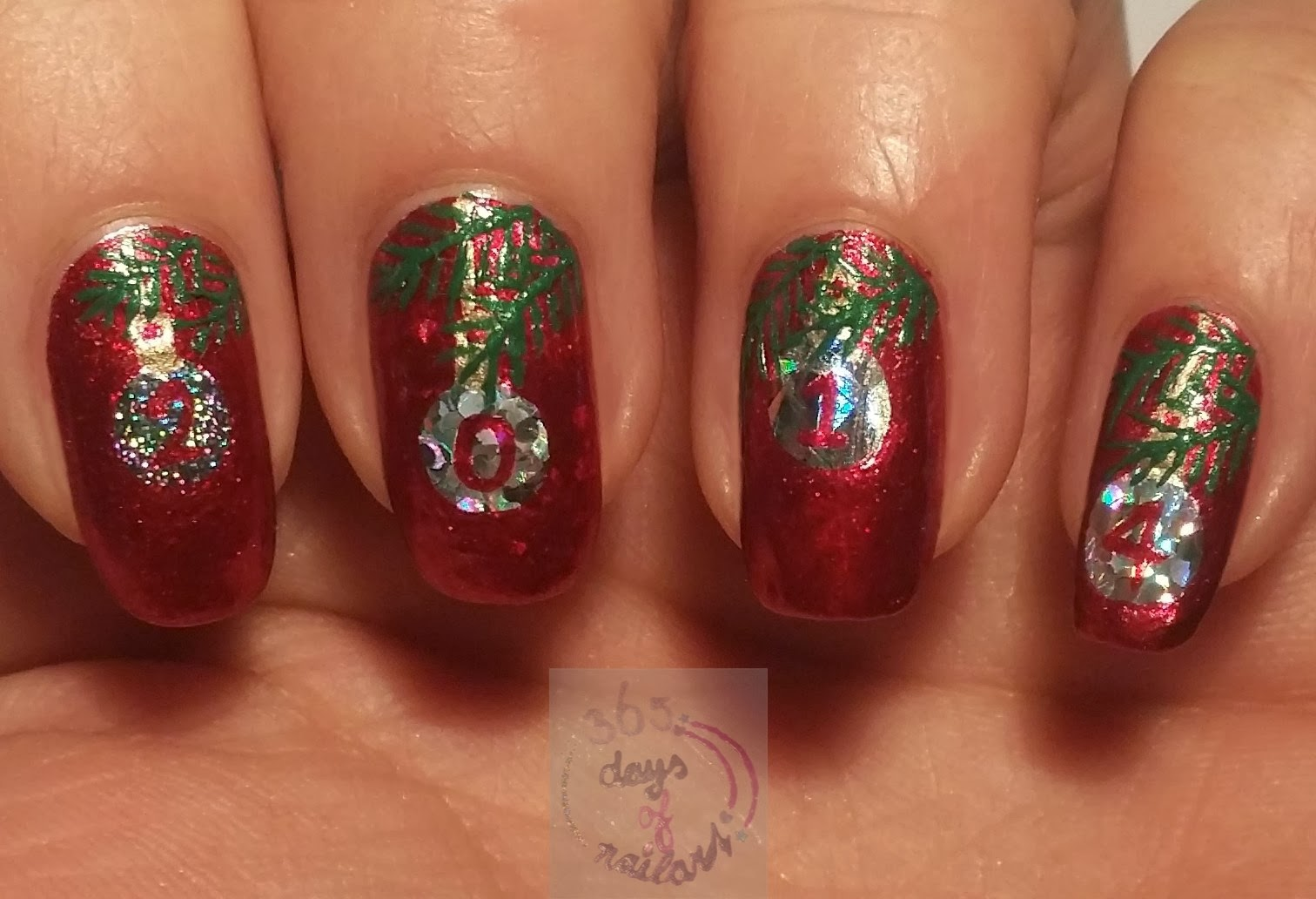 christmas ornament nail art - photo #37