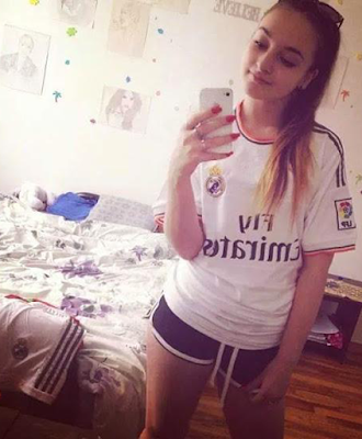 hot selfie real madrid girl
