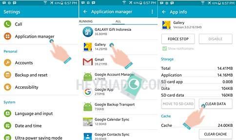 Galeri Android Berhenti dan Tidak Bisa Dibuka