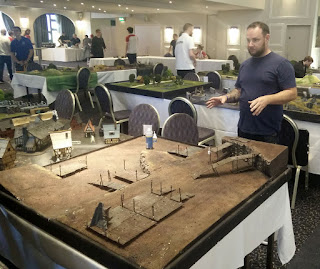 Steve setting up one of his tables; this is Goblin Town